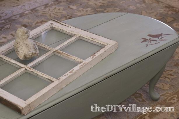 Reverse Stencil Coffee Table via The DIY Village