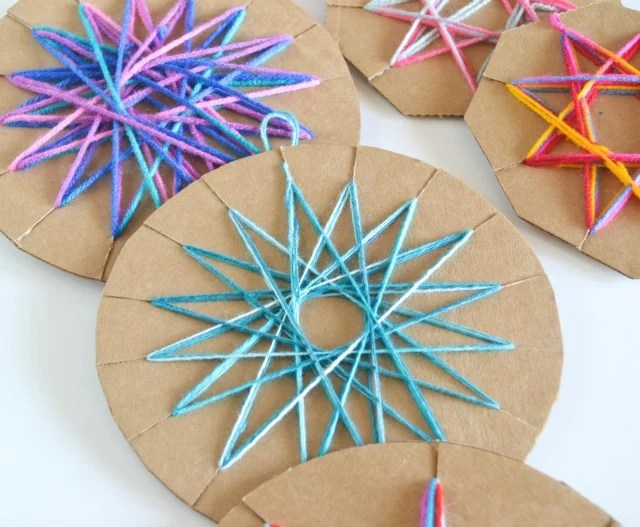 Easy DIY Yarn Ornament