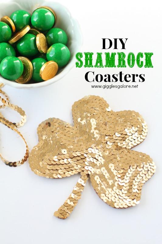 DIY Shamrock Coasters via Giggles Galore