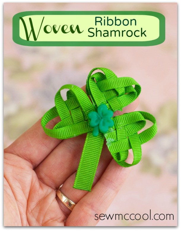 Ribbon Shamrock via Sew McCool