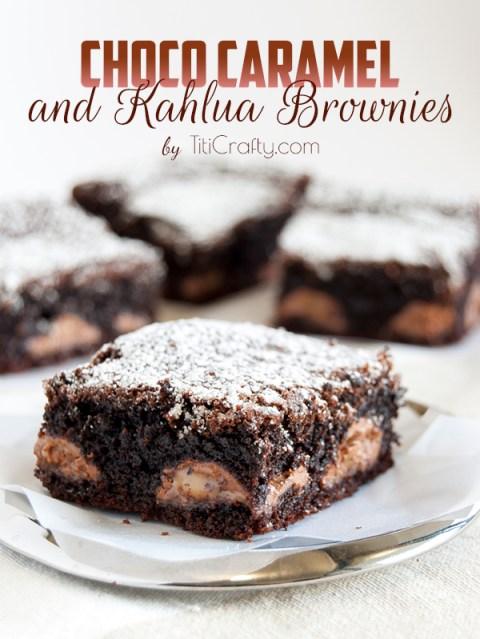 Chocolate Caramel Kahlua Brownies via Titi Crafty