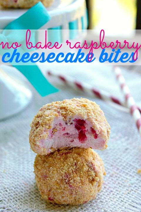 No Bake Cheesecake Bites via This Silly Girls Life