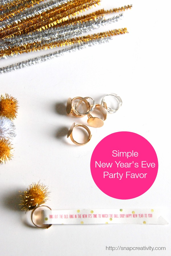 New Year's Eve party favor + printable via @Snapconf