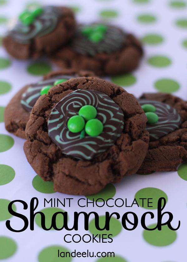 mint chocolate shamrock cookies