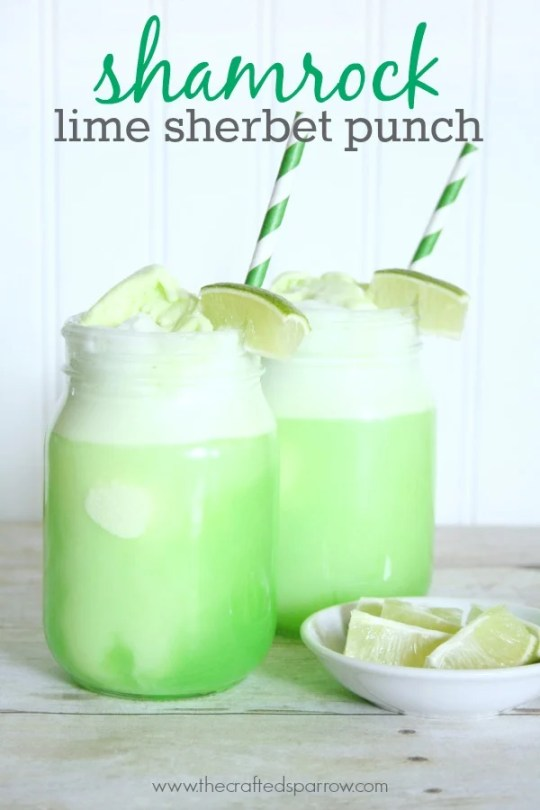 shamrock lime sherbet punch