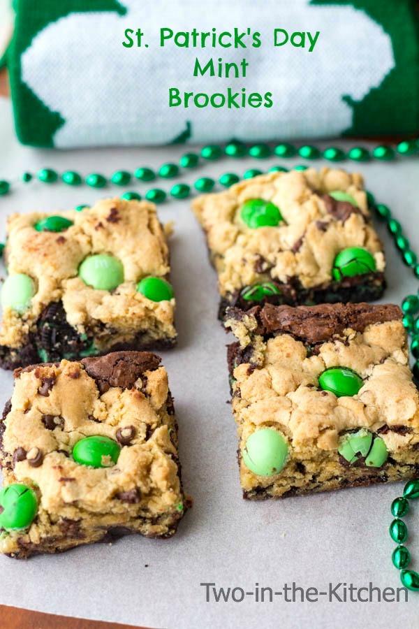 St Patricks Day mint brookies