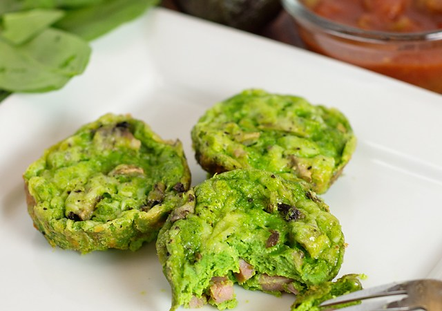 Green Eggs and Ham Mini Frittatas