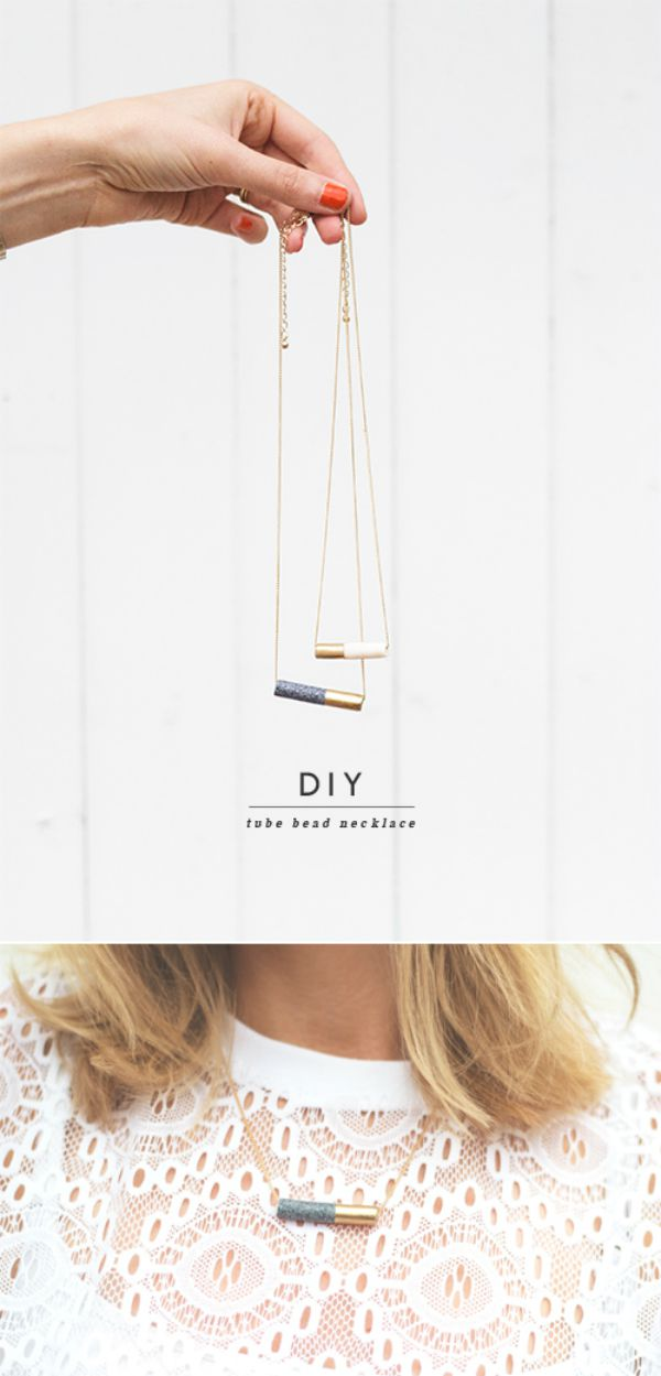 DIY necklace tutorial. This would be a great gift.