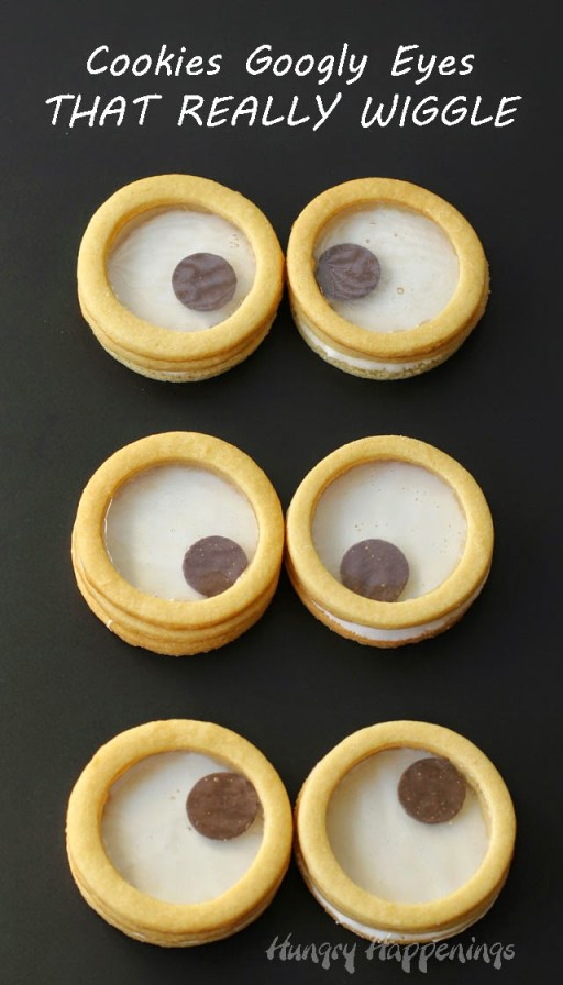 How to make googly eye cookies that really wiggle - the kids would LOVE this!