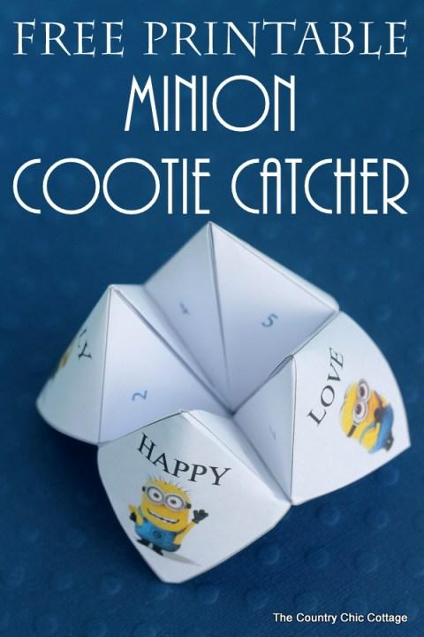 Minion Cootie Catcher