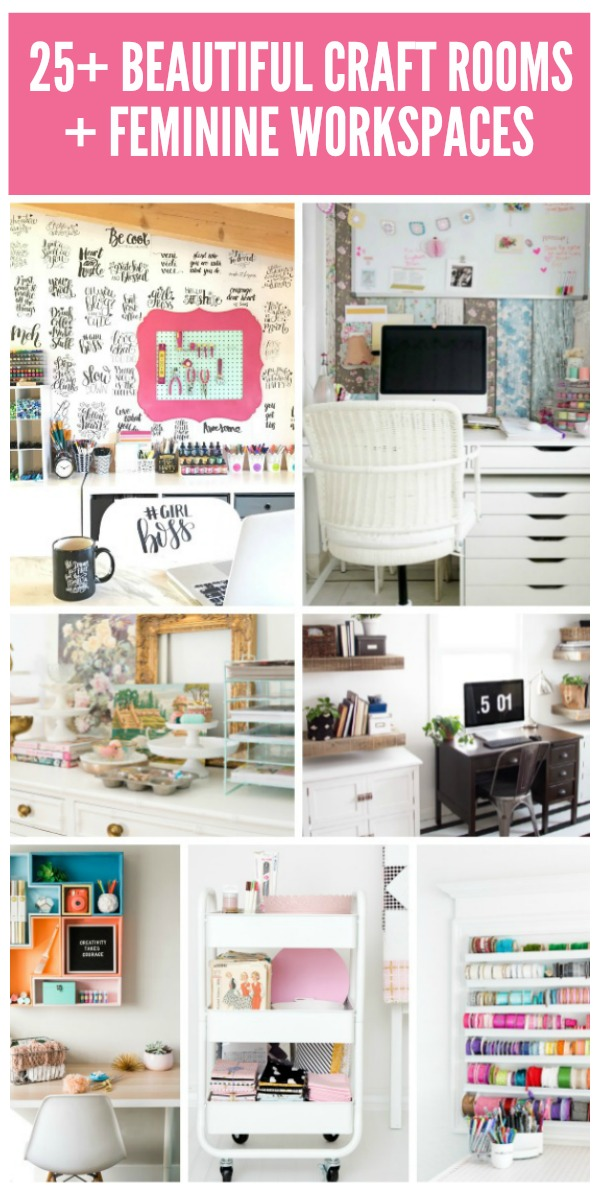 25+ Beautiful Craft Rooms and Home Offices