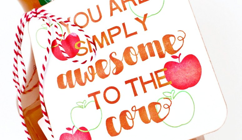 Free Print + Cut Awesome to the Core Gift Tag