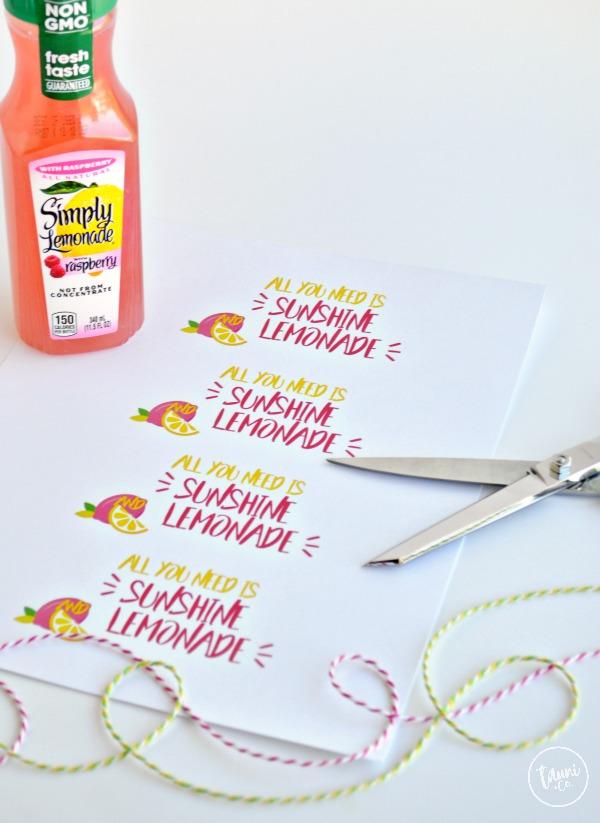 Sunshine and lemonade gift tag supplies © tauni everett
