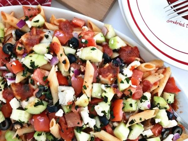 Mediterranean Grilled Chicken Pasta Salad Recipe