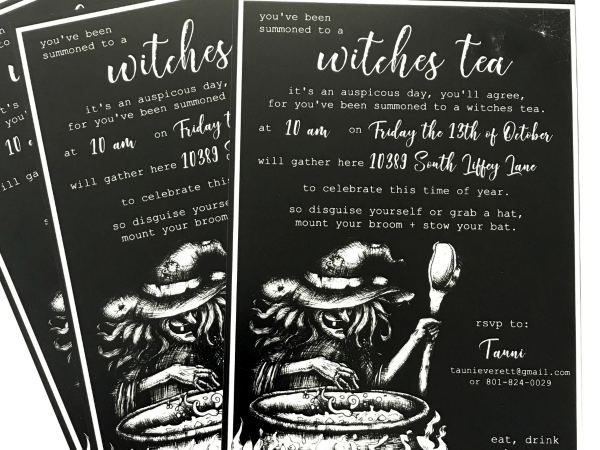 Witches Tea Halloween Party Invitation