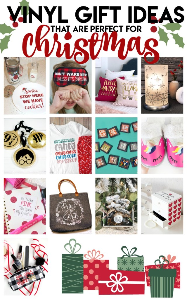 Great holiday gift ideas using vinyl!