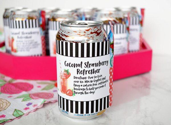 Coconut Strawberry Refresher Kit for Teacher Appreciation