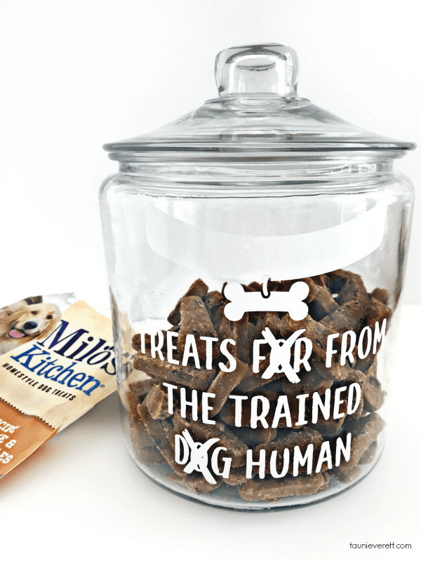Spoiled Dog Treat Jars with two FREE cut files #silhouette #cricut #cutfiles #dog #dogtreat