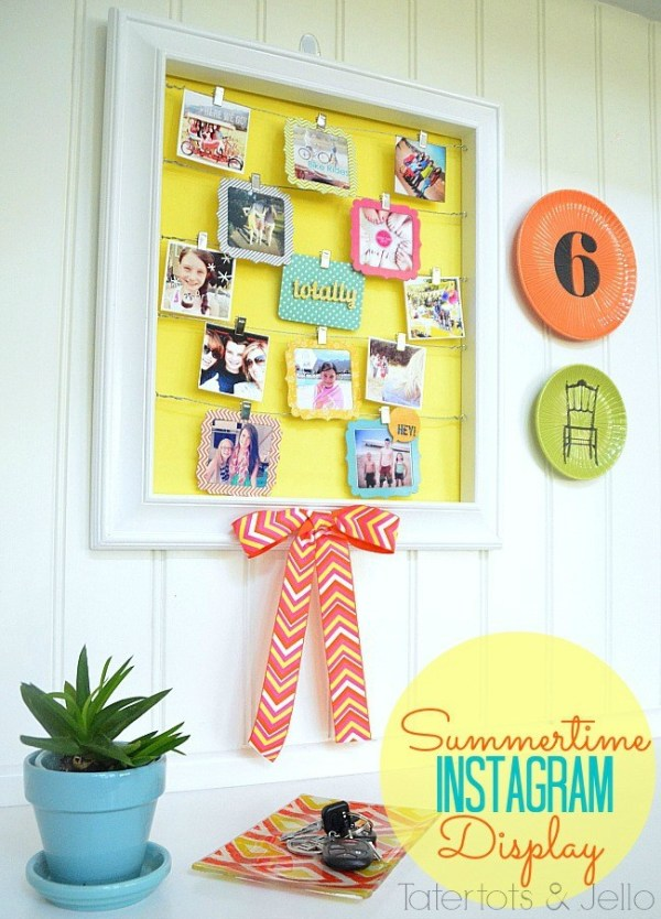 Summertime instagram display at tatertots and jello1