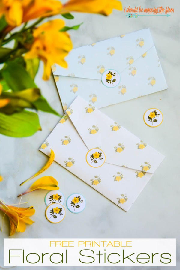 Free printable floral stickers