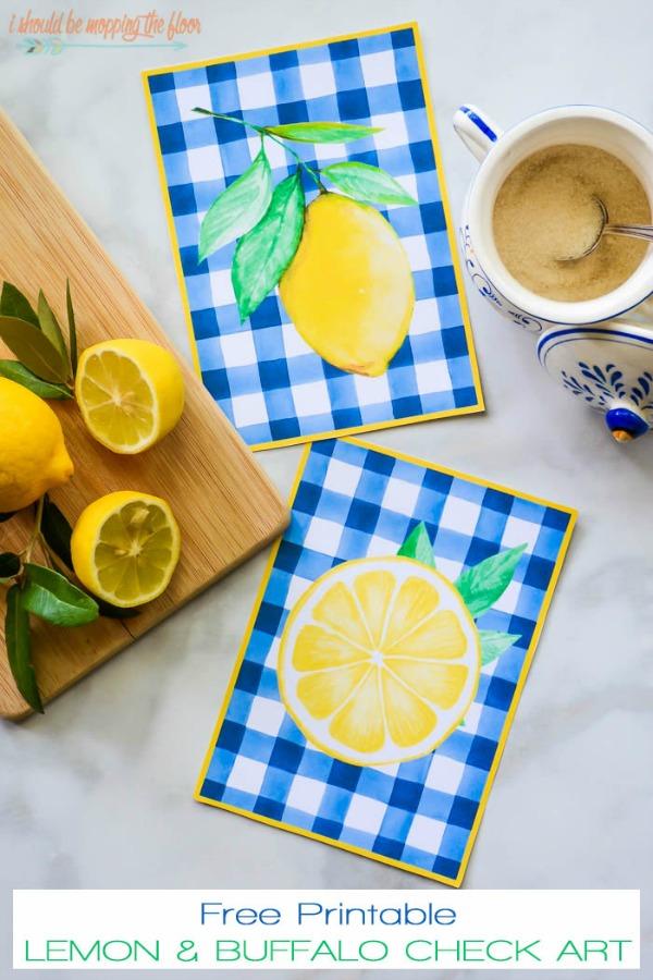 Lemon kitchen art