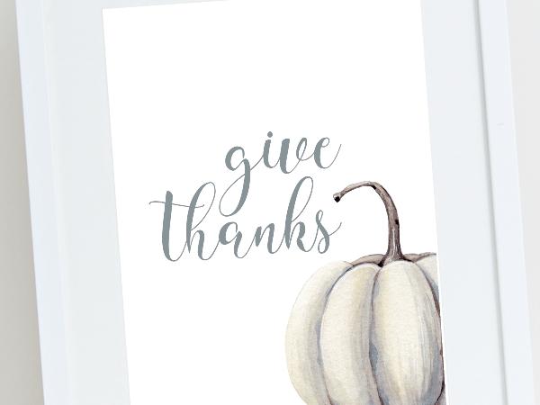 Thanksgiving Farmhouse Style Watercolor Prints