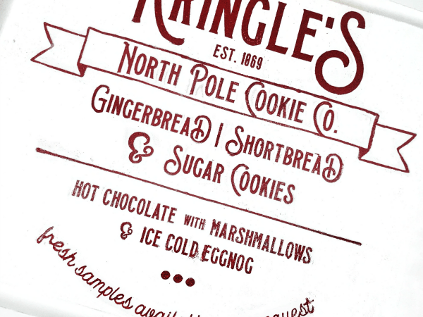 Kringle's Cookie Co. Cut File + DIY Christmas Kitchen Sign