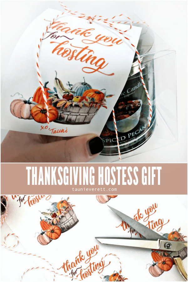 Thanksgiving Hostess Gift Tag. Free Printable available for instant download. Perfect for ANY gift. #thanksgiving #thanksgivingprintable #thanksgivinghostessgift #hostessgift #gifttag