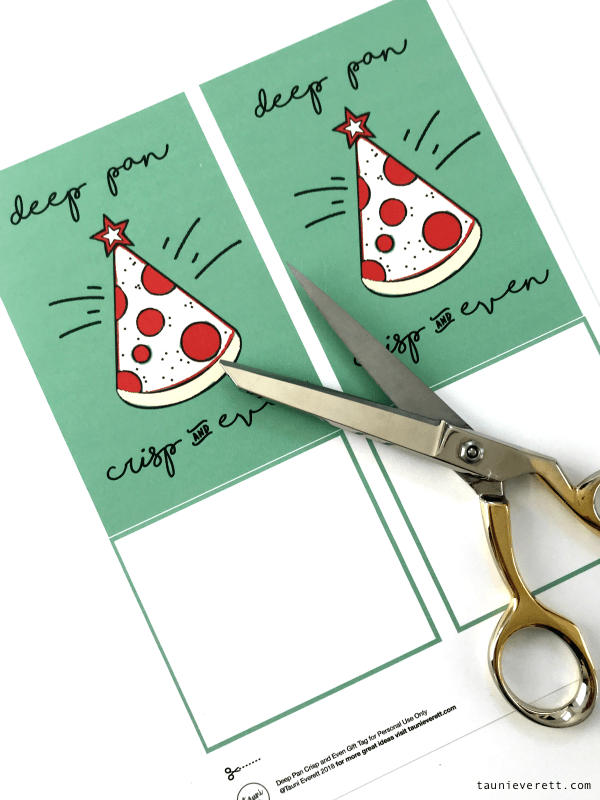 Pizza christmas printable gift idea © tauni everett 2 600