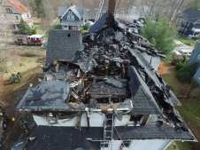 Taunton officials deemed the home a total loss.(Courtesy Photo Brewster Ambulance Service)
