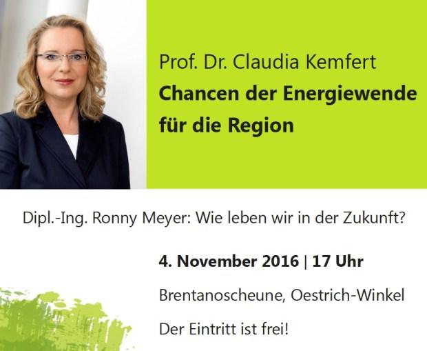 Prof. Dr. Claudia Kemfert Chancen der Energiewende für die Region