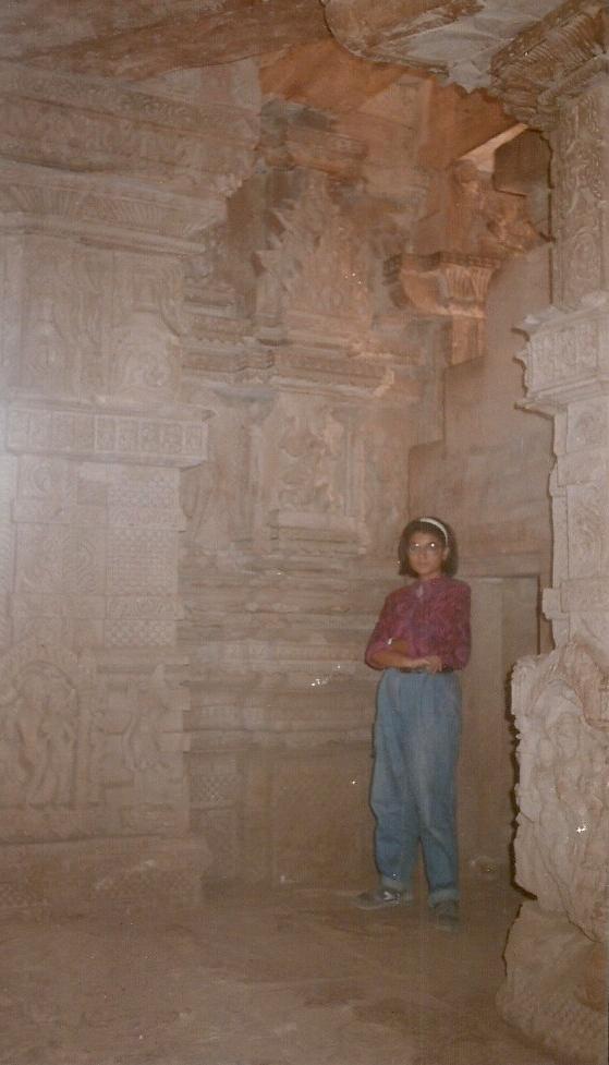 Pramiti inside the temple