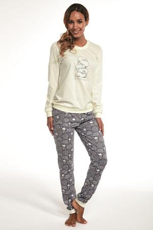 Najpredávanejšie dámske pyžamo na spanie Sheep Ecru