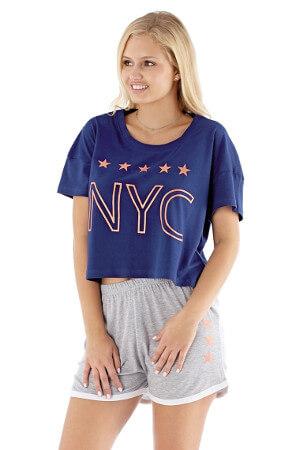 Modré pyžamo NYC navy