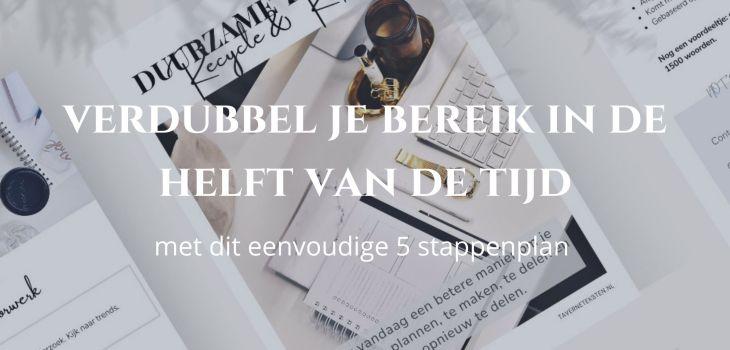 duurzame teksten content plan - taverne's teksten