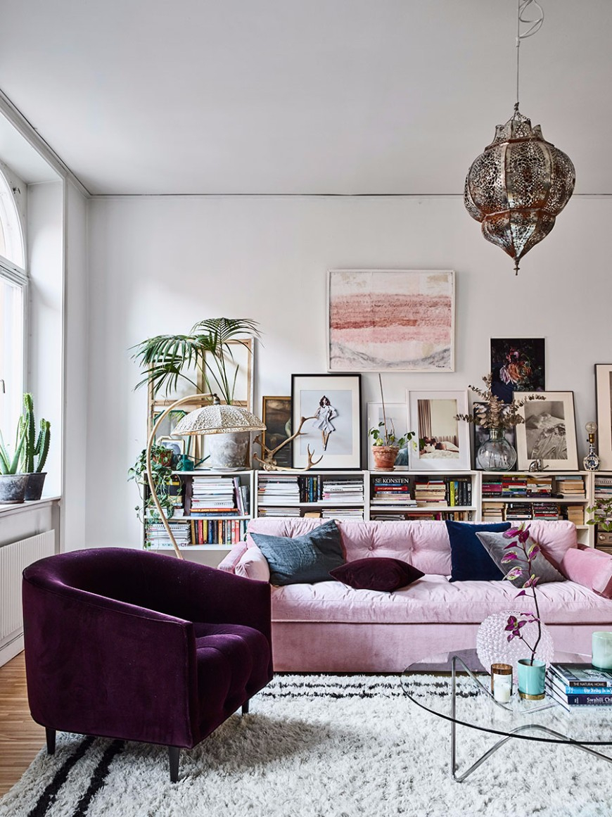13 Millennial Pink Sofas For A Chic Living Room Set Modern Sofas pertaining to 10 Smart Ways How to Build Pink Living Room Set