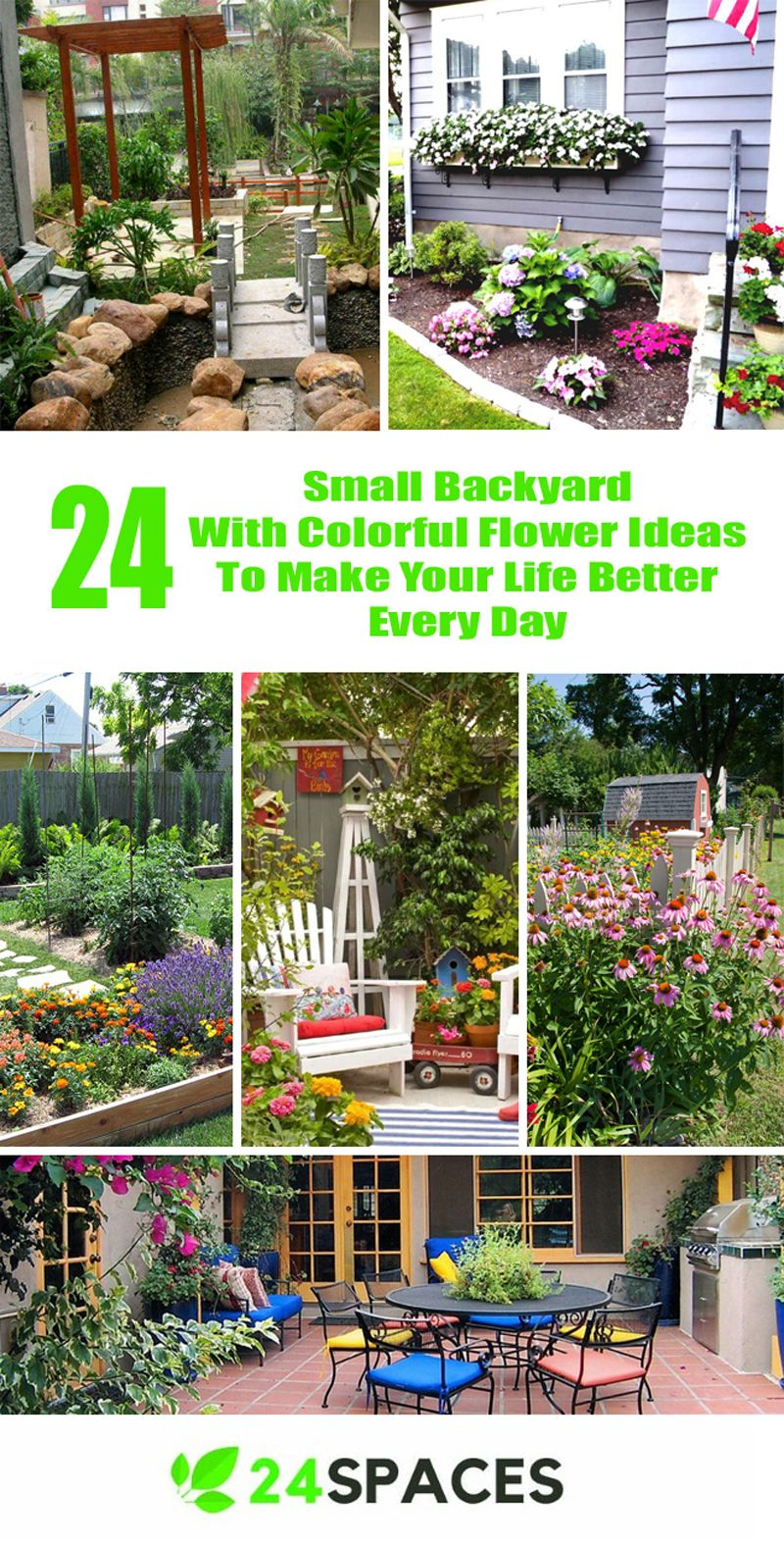 24 Awesome Small Backyard Inspirations With Colorful Flower Ideas for Colorful Backyard Ideas