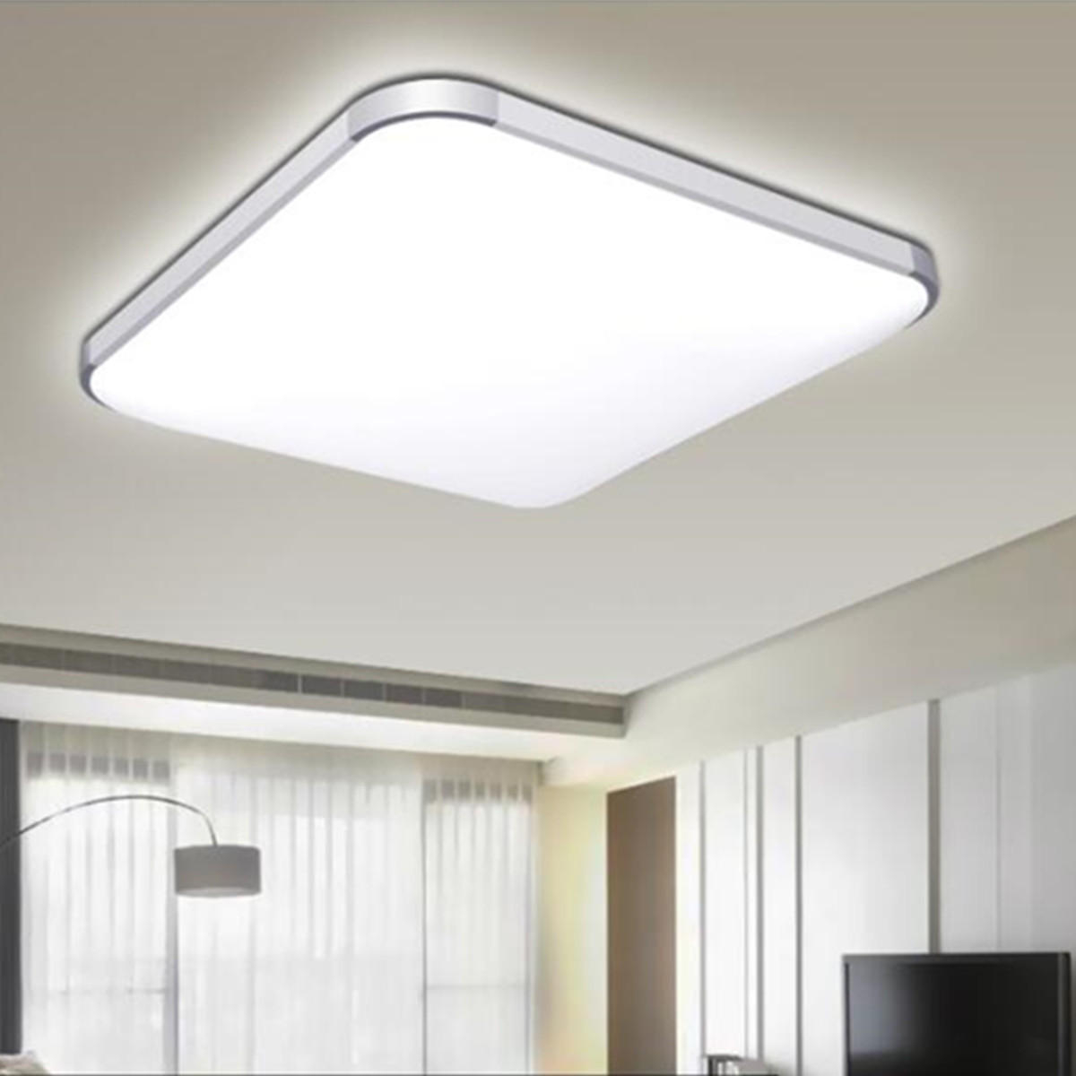 24w Led Modern Flush Mount Ceiling Light Bedroom Lamp Home Fixture regarding 11 Some of the Coolest Initiatives of How to Build Modern Bedroom Ceiling Light Fixtures