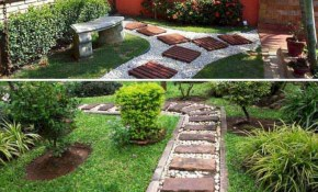 25 Best And Beautiful Stepping Stones Design Ideas For Your Front throughout 10 Clever Ideas How to Upgrade Backyard Stepping Stone Ideas