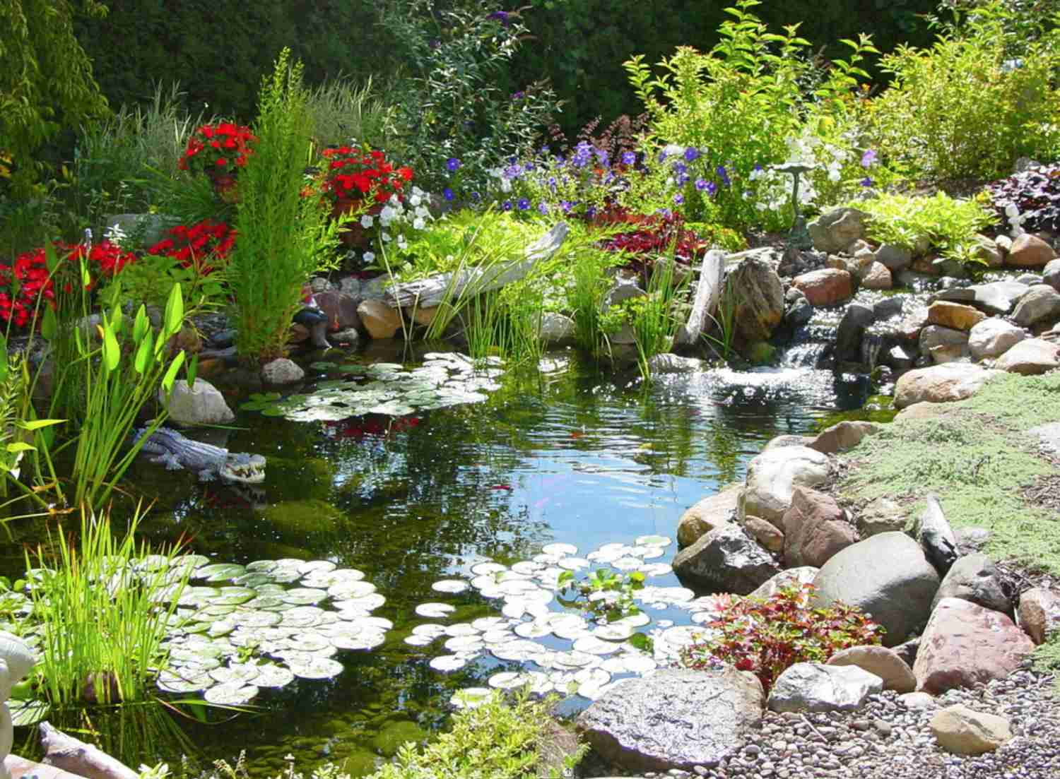 25 Pond Waterfall Designs And Ideas within Backyard Pond Ideas With Waterfall