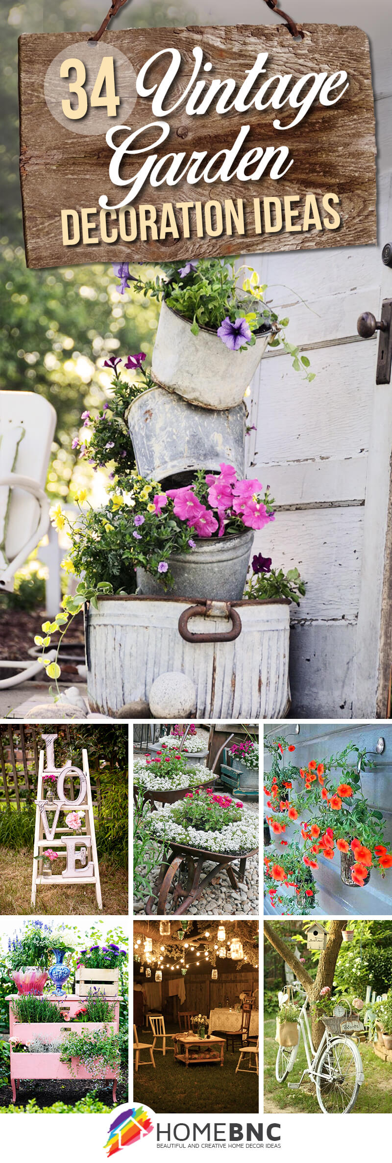 34 Best Vintage Garden Decor Ideas And Designs For 2019 in 11 Smart Ideas How to Build Decorating Backyard Ideas