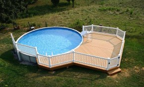 35 Fantastic Above Ground Swimming Pools Ideas Apply Your Backyard inside 10 Awesome Tricks of How to Improve Backyard Pool Deck Ideas