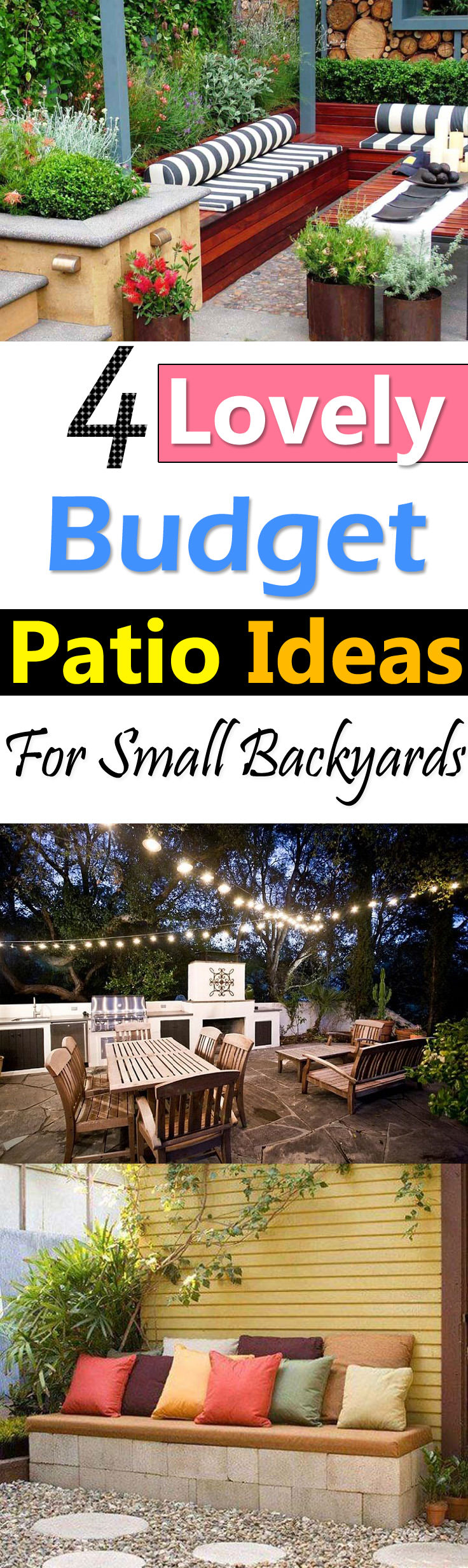 4 Lovely Budget Patio Ideas For Small Backyards Balcony Garden Web inside 11 Clever Designs of How to Build Small Backyard Patio Ideas On A Budget