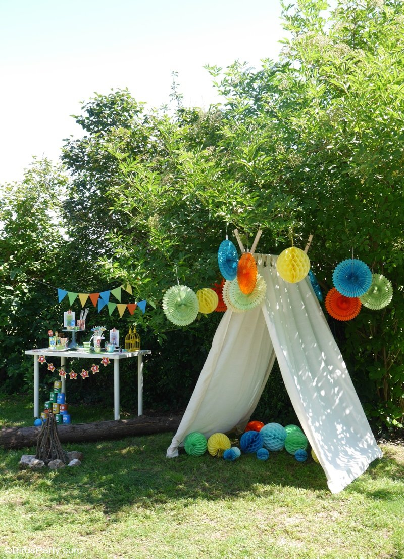 A Summer Backyard Camping Party With Free Printables Party Ideas with regard to Fun Backyard Party Ideas
