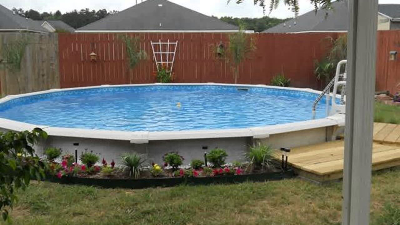 Above Ground Pool Landscape Design Ideas Youtube throughout 10 Awesome Ideas How to Make Above Ground Pool Backyard Landscaping Ideas