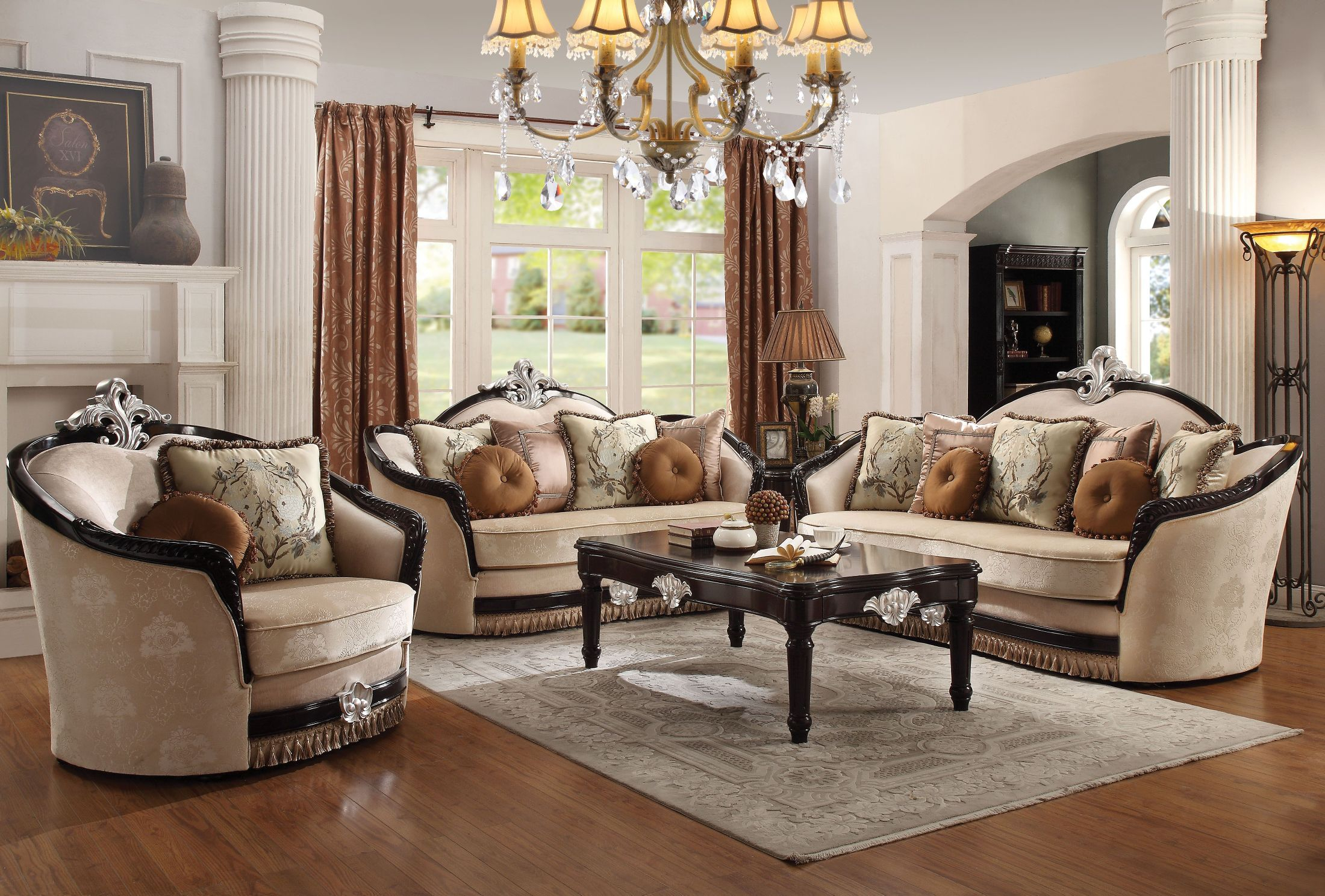 Acme Ernestine Tan And Black Living Room Set Ernestine Collection with 15 Clever Ideas How to Build White And Black Living Room Set