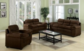 Acme Standford Easy Rider Microfiber Living Room Set In Chocolate for 12 Awesome Concepts of How to Craft Chocolate Living Room Set