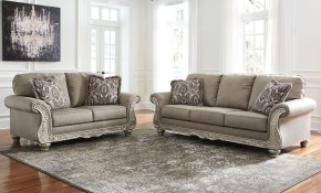 Ashley Furniture Gailian Living Room Set In Smoke Local Furniture within Living Room Sets Ashley