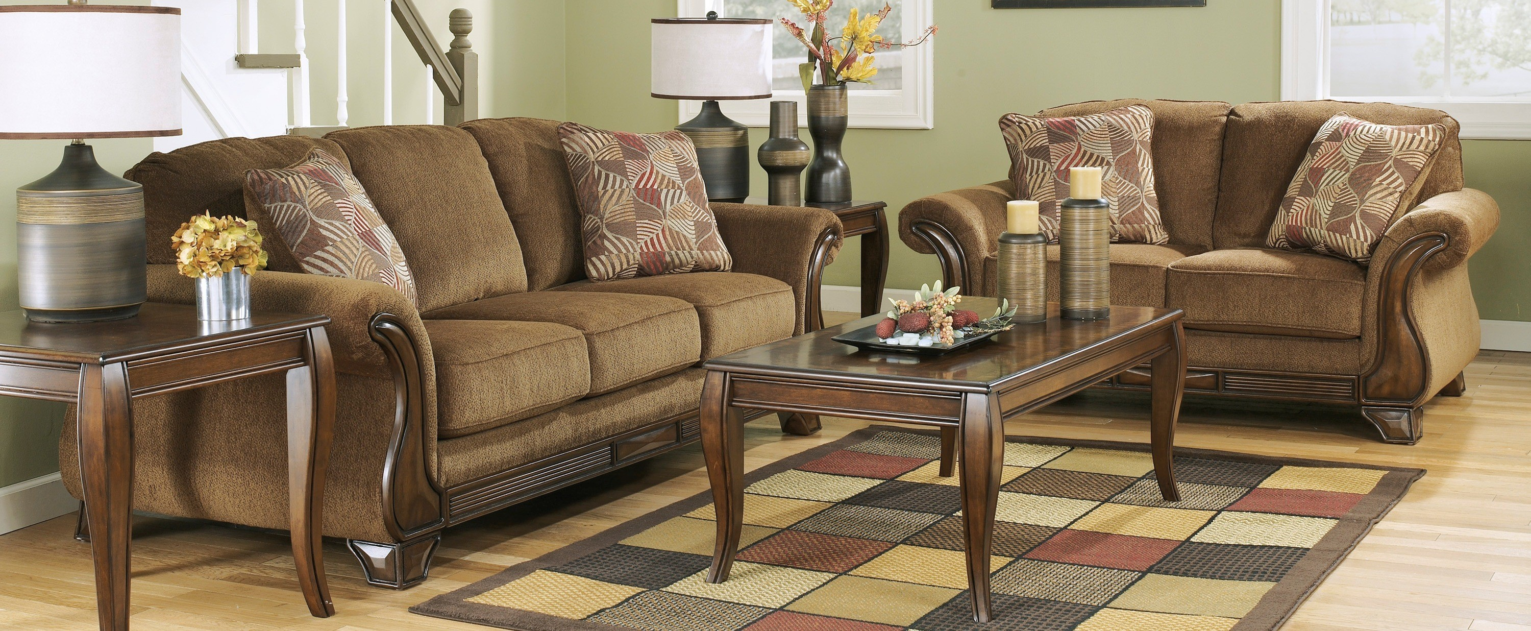 Ashley Furniture Montgomery Mocha Living Room Set A San Antonio 4 in Living Room Sets San Antonio