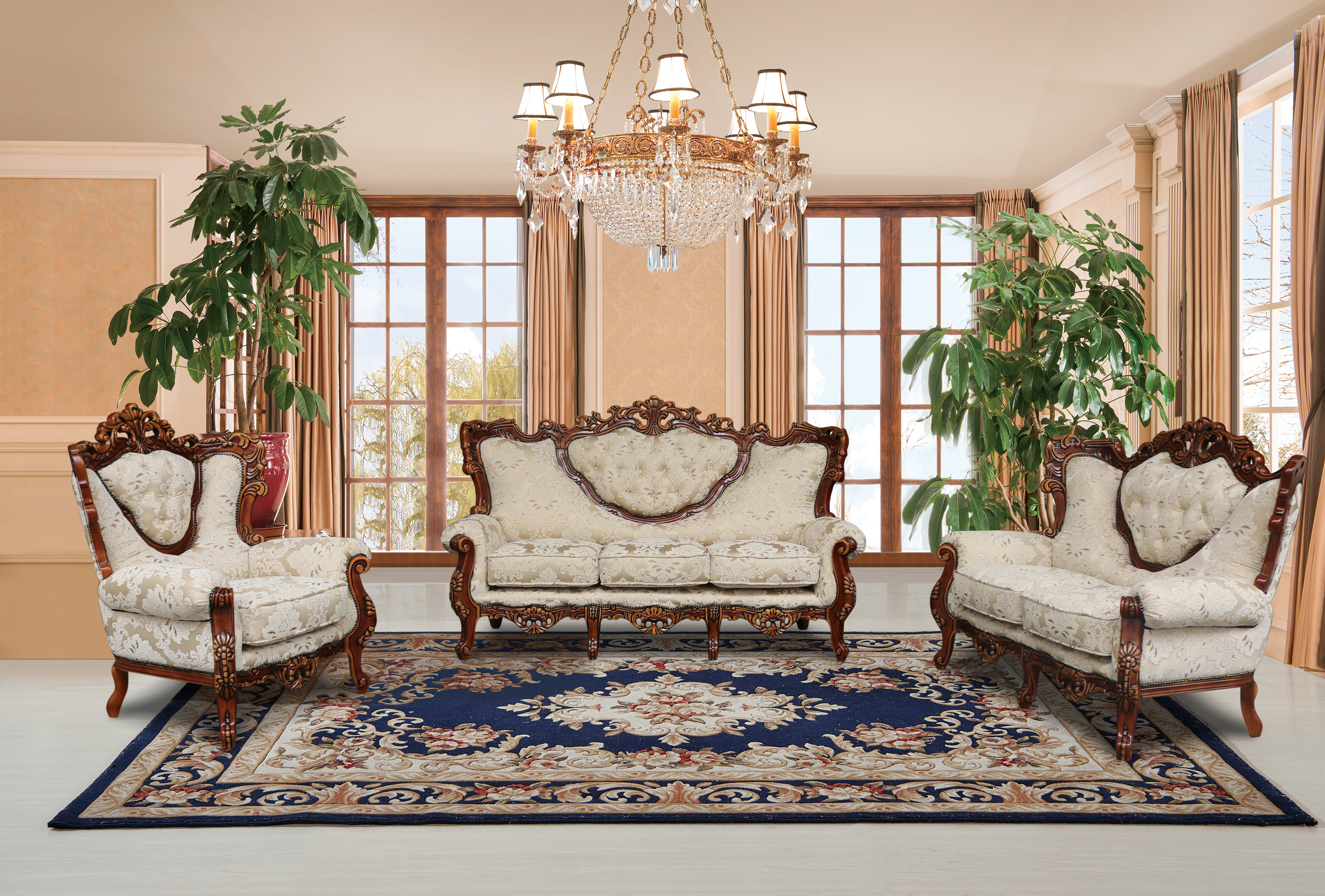 Astoria Grand Waleska 3 Piece Gold And White Embossed Fabric regarding 11 Smart Concepts of How to Build Used Living Room Set